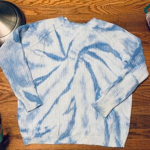 NWT LIMITED EDITION COTTON RIBBED TIE DYE SWEATER